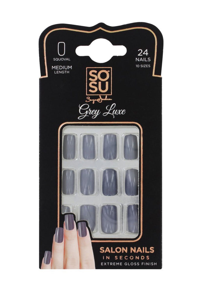 SOSU By Suzanne Jackson Nails Squoval 'Grey Luxe'