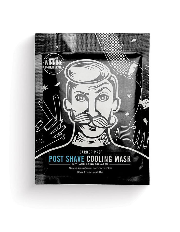 Barber Pro - POST SHAVE COOLING MASK with Anti-Ageing Collagen