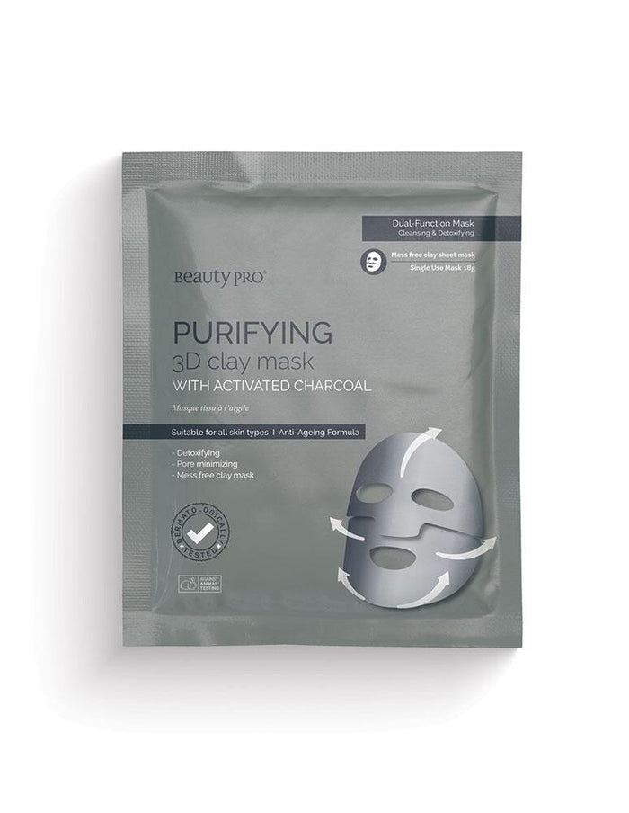 Beauty Pro - PURIFYING 3D Clay Mask with Activated Charcoal