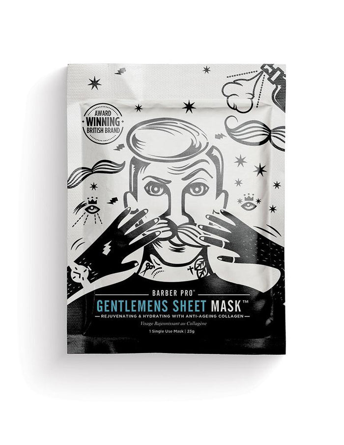 Barber Pro - GENTLEMENS SHEET MASK Rejuvenating & Hydrating with Anti-Ageing Collagen
