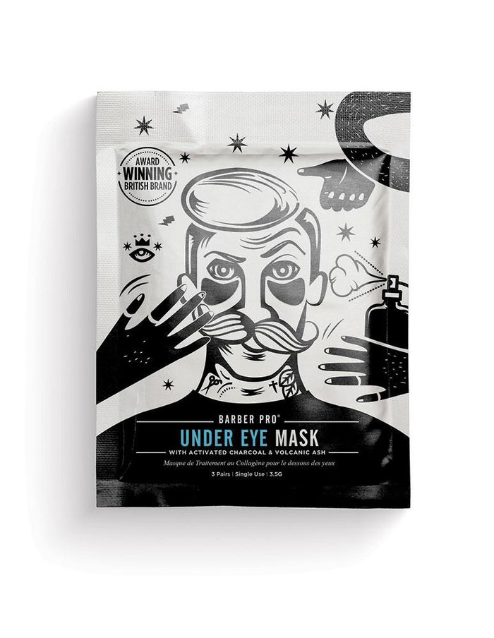 Barber Pro - UNDER EYE MASK with Activated Charcoal & Volcanic Ash