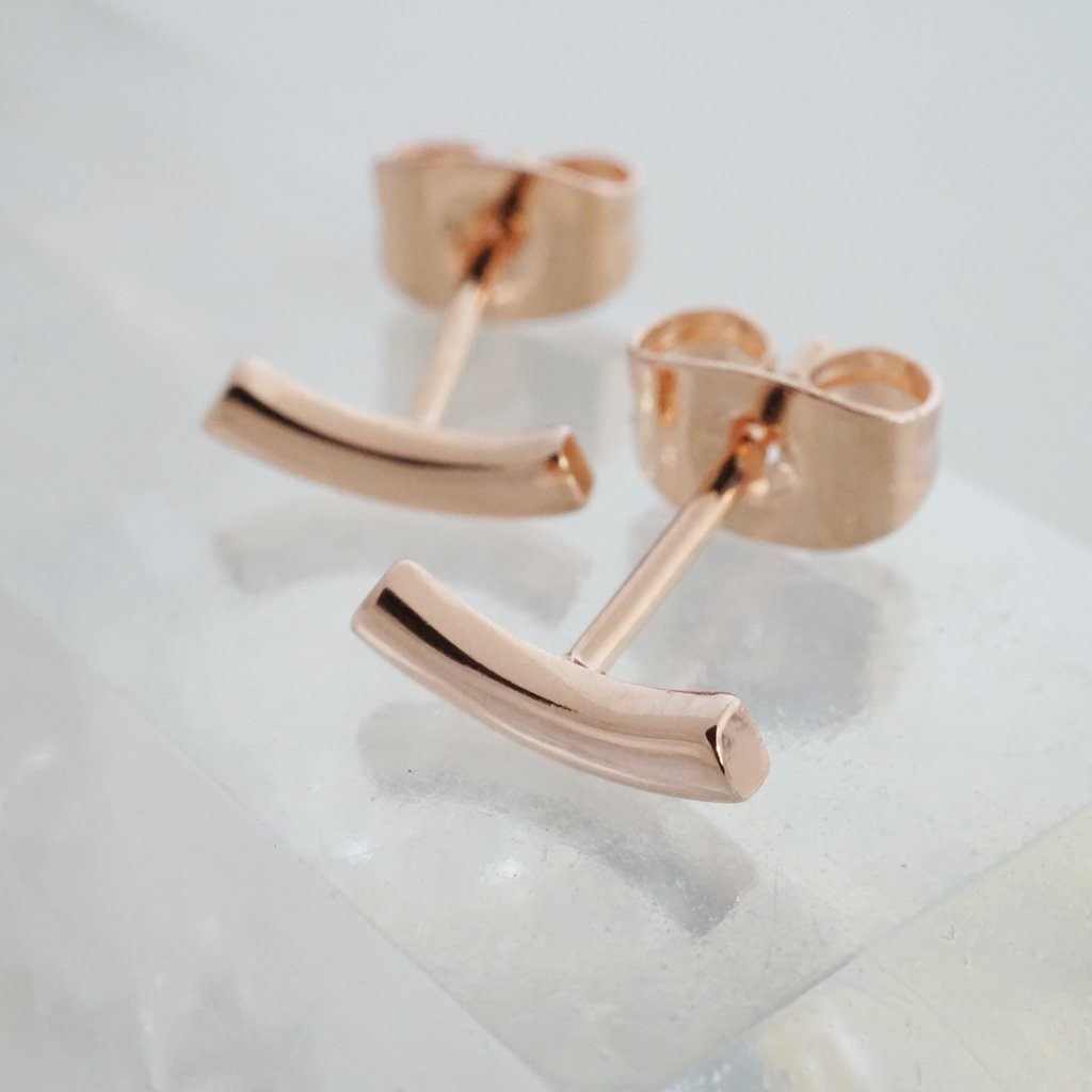 Tiny Arc Stud Earrings Earrings HONEYCAT Jewelry