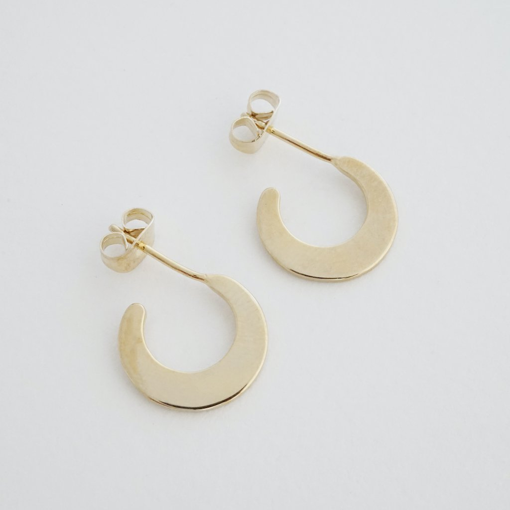Aura Moon Hoops Earrings HONEYCAT Jewelry