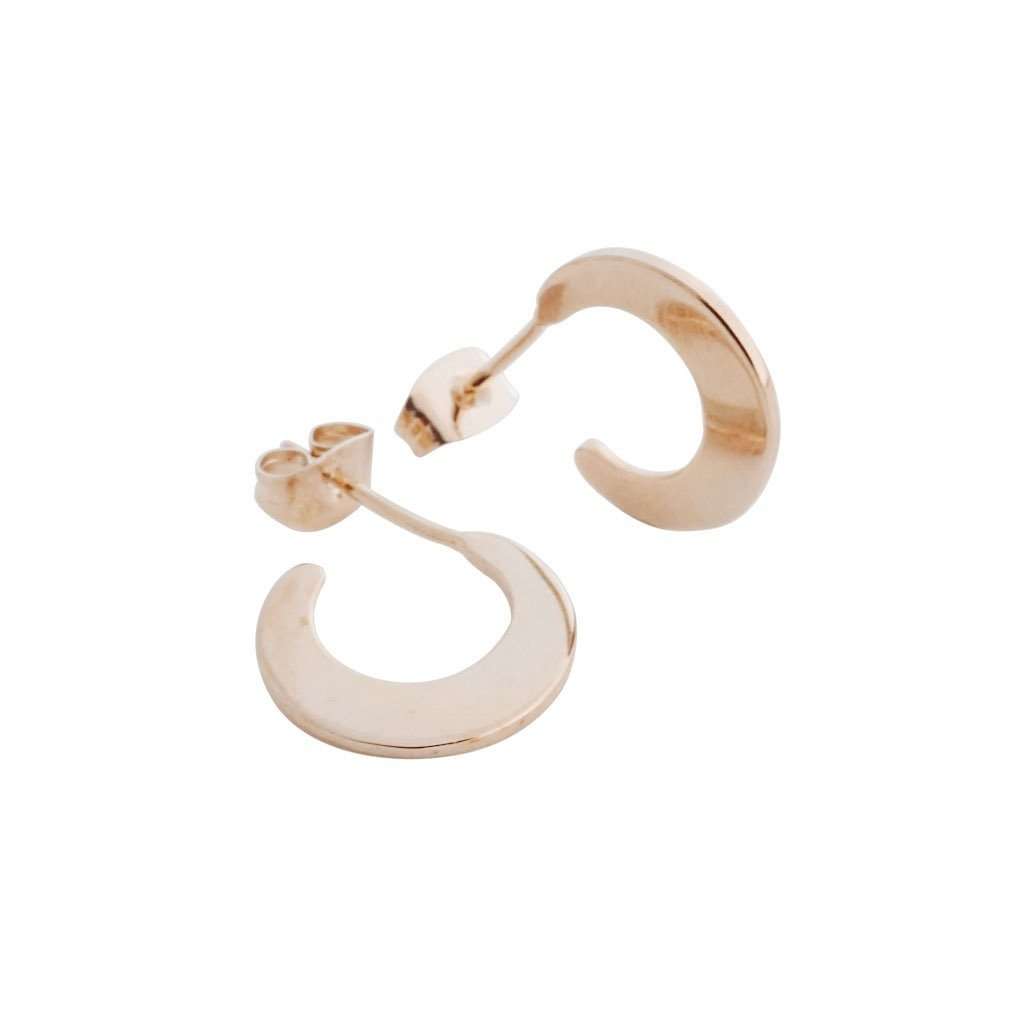 Aura Moon Hoops Earrings HONEYCAT Jewelry Rose Gold