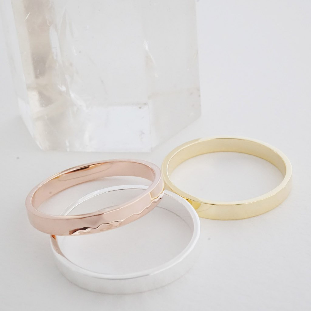 Hammered Boyfriend Ring Rings HONEYCAT Jewelry
