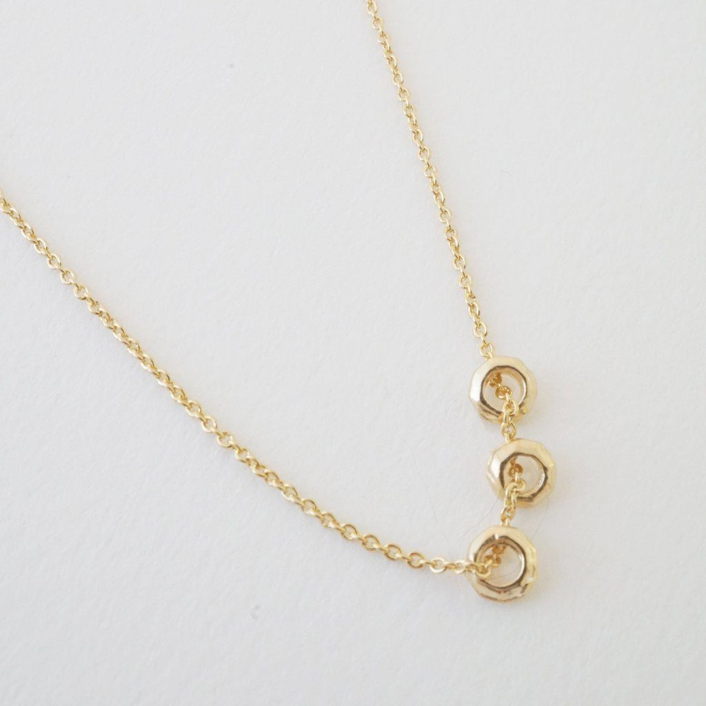 Brandy 3-Ring Necklace Necklaces HONEYCAT Jewelry