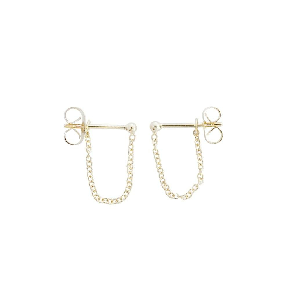 Chain Wrap Huggies Earrings HONEYCAT Jewelry Gold