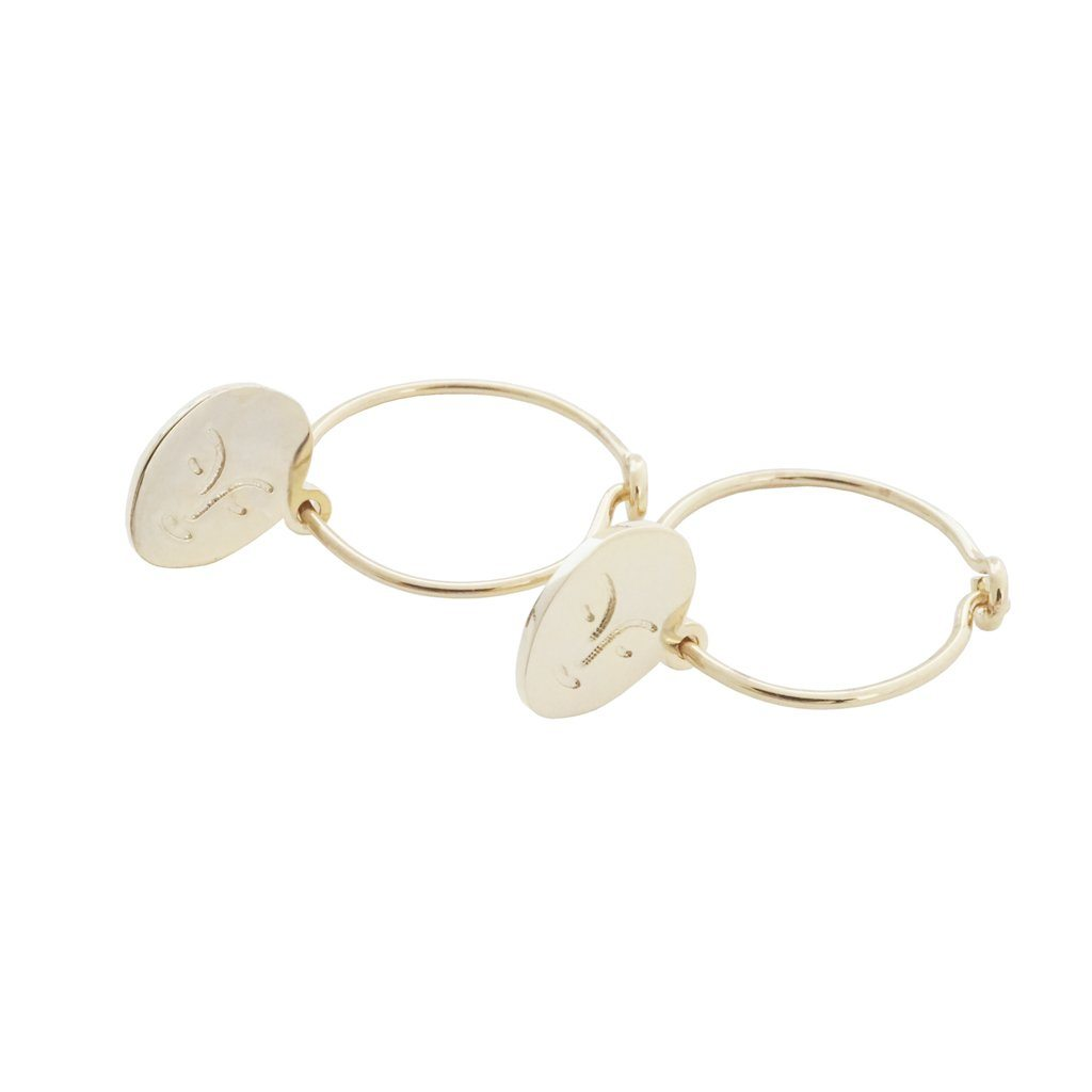 Magic Charm Face Hoops Earrings HONEYCAT Jewelry Gold