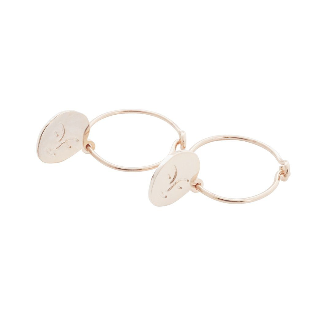Magic Charm Face Hoops Earrings HONEYCAT Jewelry Rose Gold
