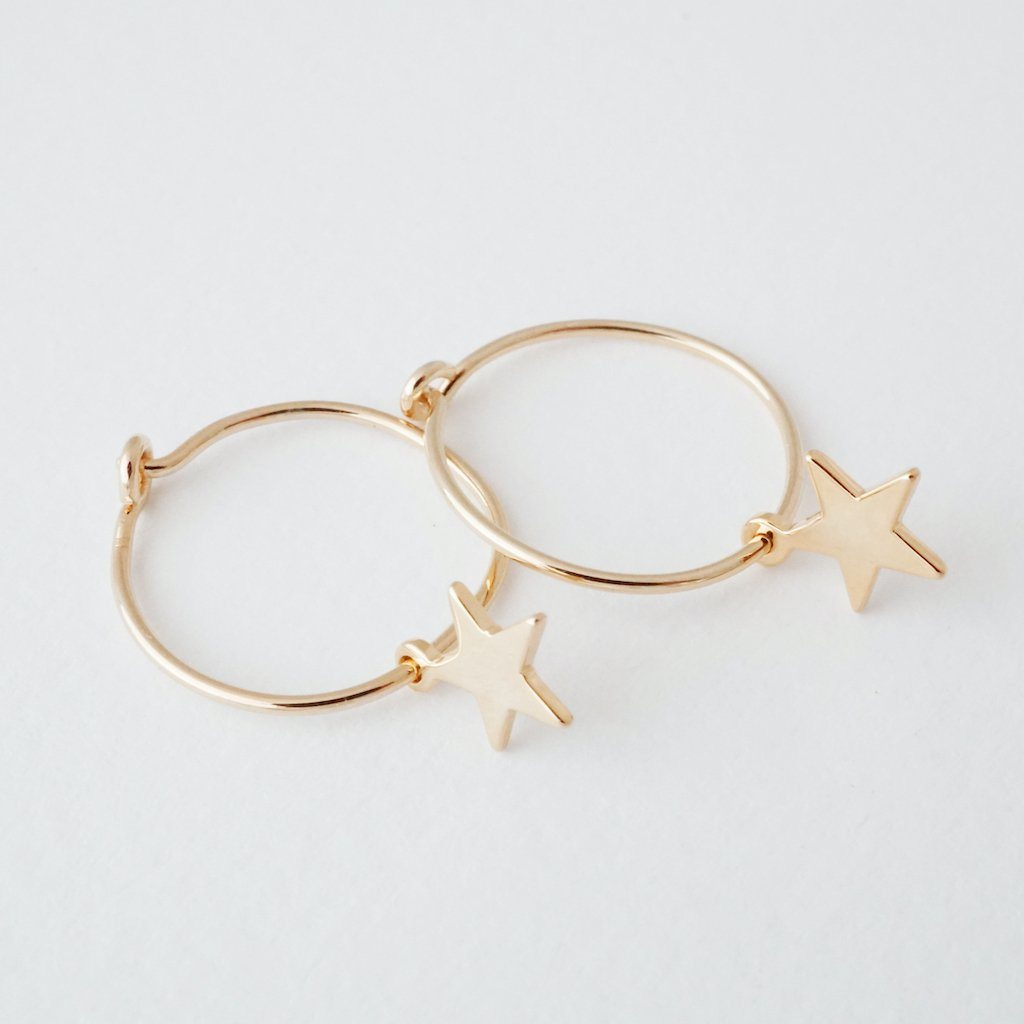 Choosey Star Hoops Earrings HONEYCAT Jewelry