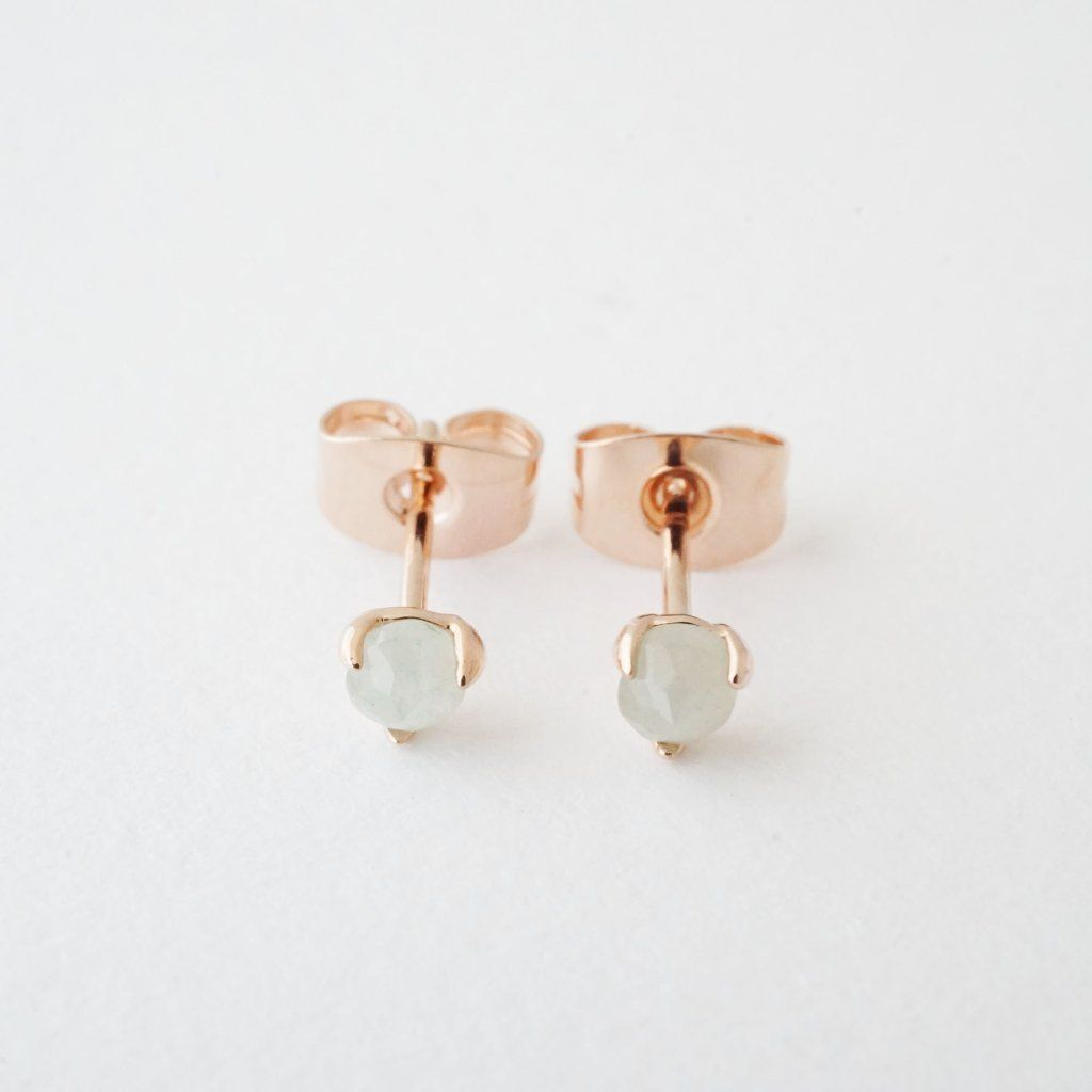Jade Point Solitaire Studs