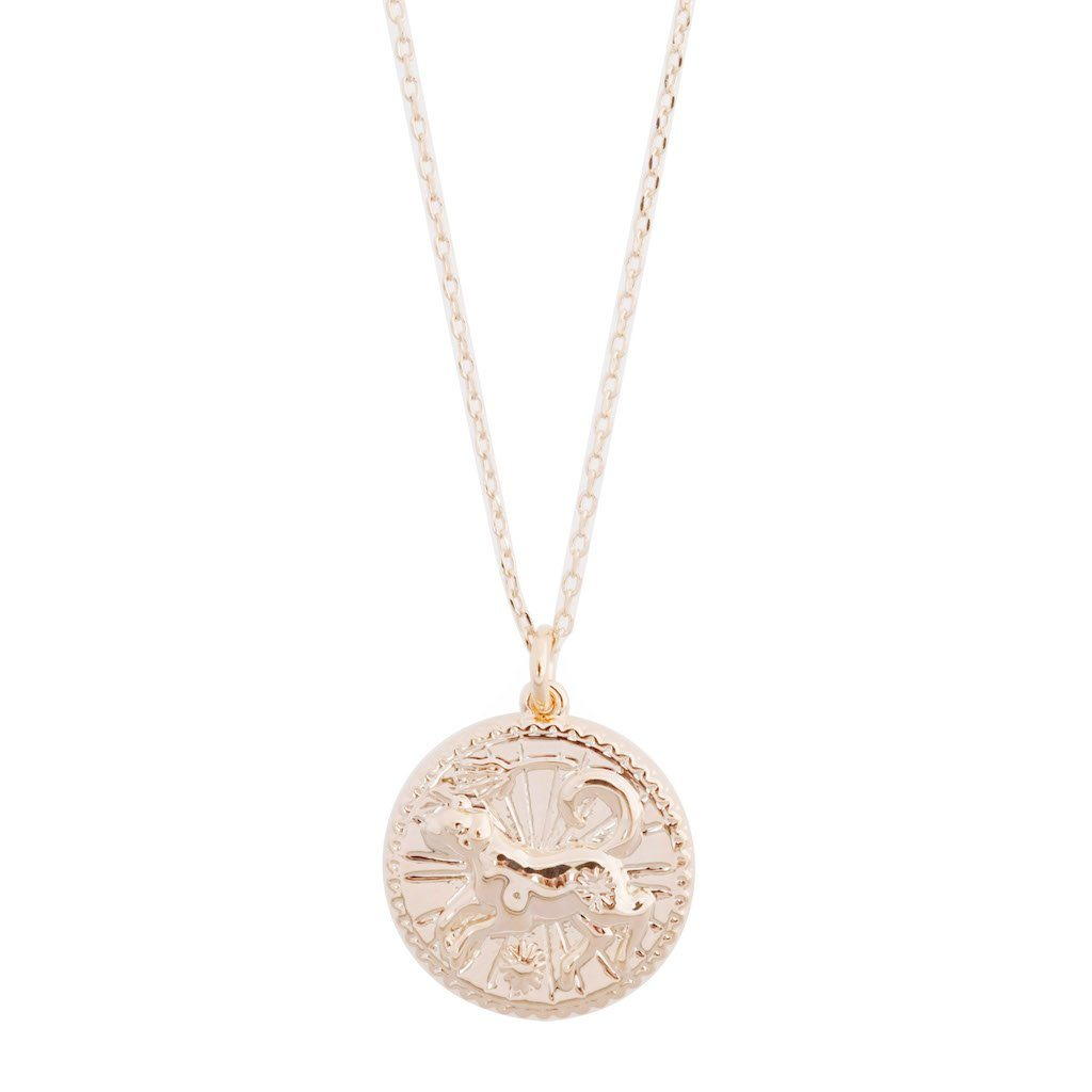 Chinese Zodiac Coin Necklace - Dog Necklaces HONEYCAT Jewelry Rose Gold