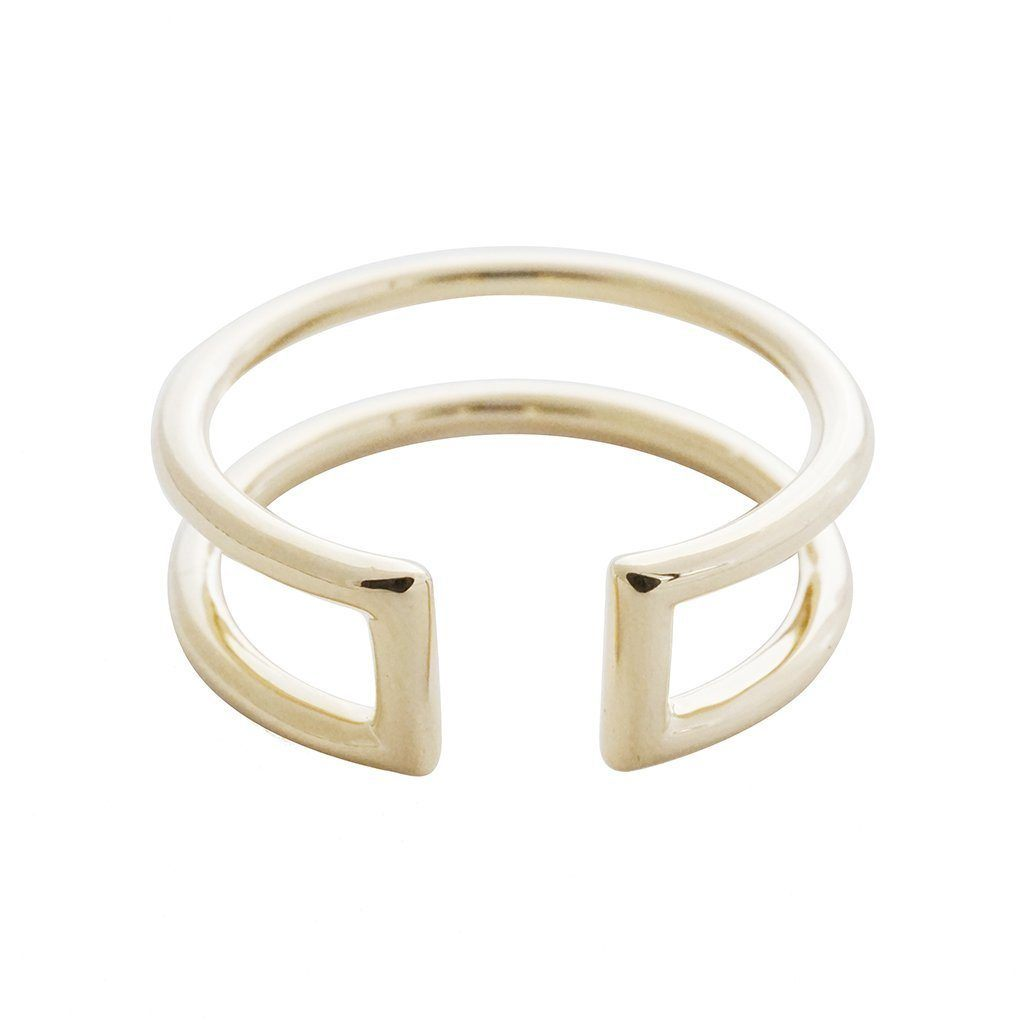Double Stack Ring Rings HONEYCAT Jewelry Gold