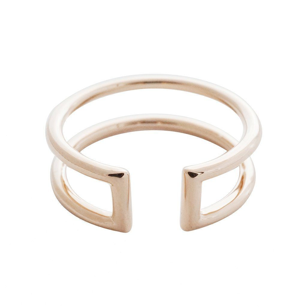 Double Stack Ring Rings HONEYCAT Jewelry Rose Gold