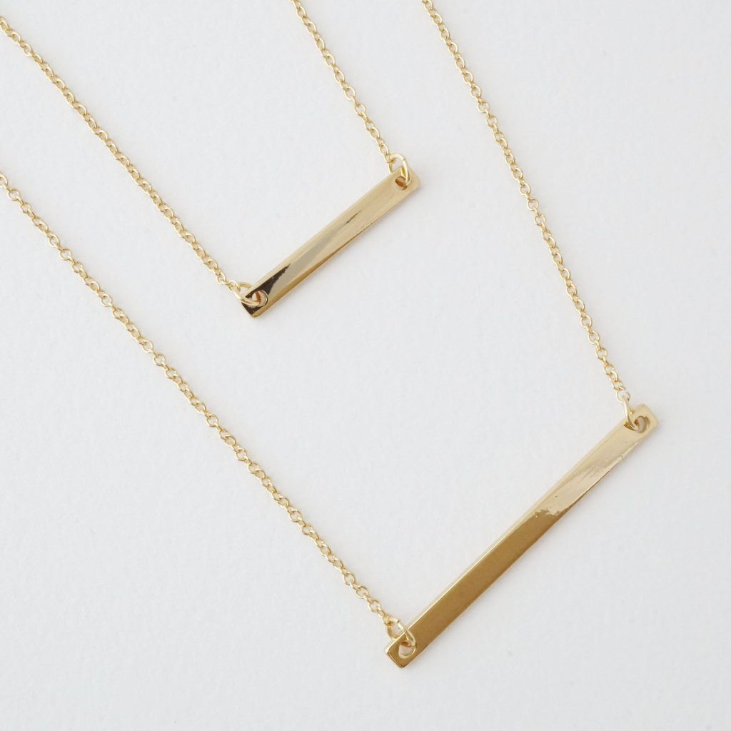 Double Layer Bar Necklace Necklaces HONEYCAT Jewelry