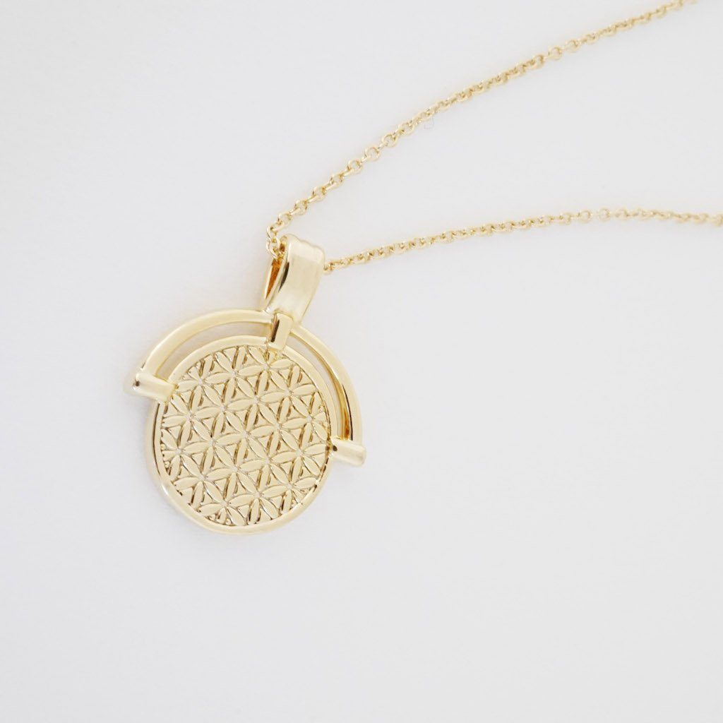 Flower of Life Pendant Necklace Necklaces HONEYCAT Jewelry Gold