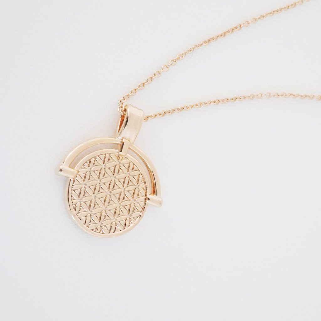 Flower of Life Pendant Necklace Necklaces HONEYCAT Jewelry Rose Gold