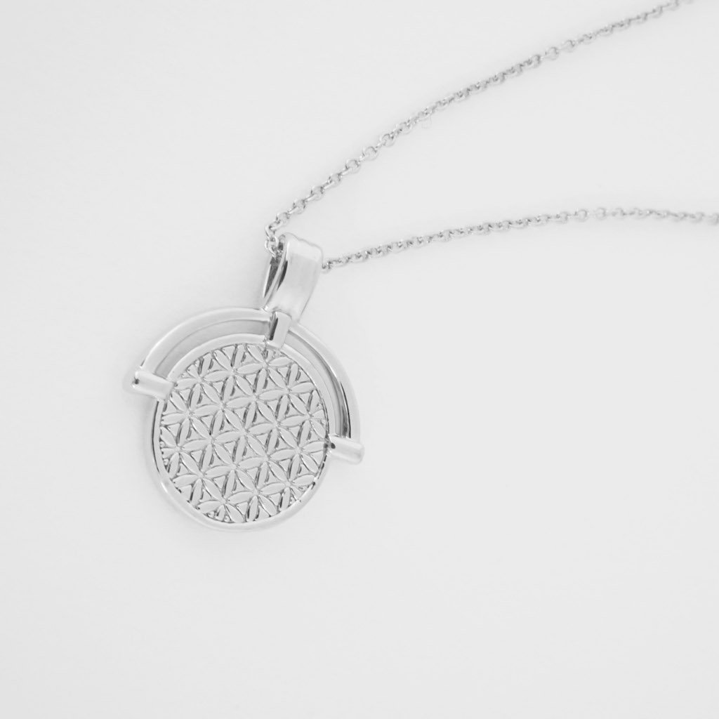 Flower of Life Pendant Necklace Necklaces HONEYCAT Jewelry Silver