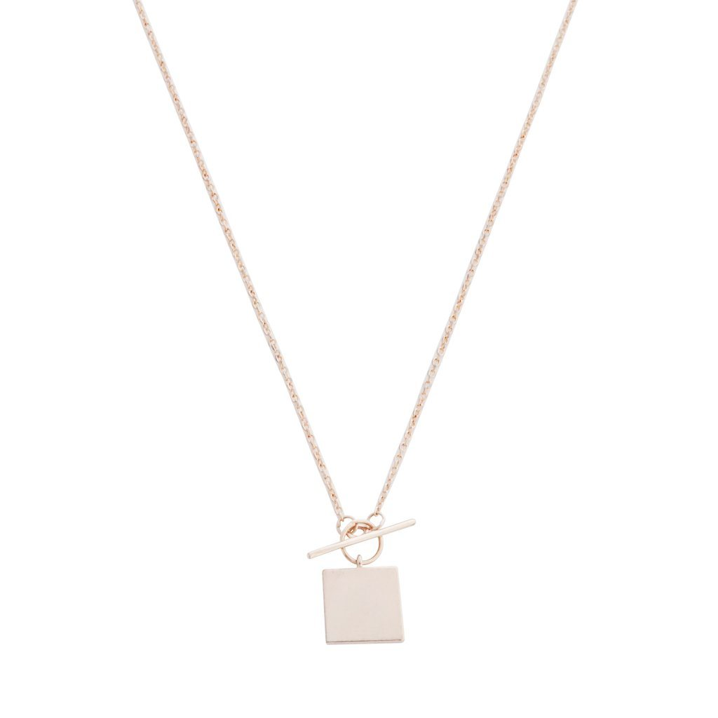 Gwyneth Toggle Necklace Necklaces HONEYCAT Jewelry Rose Gold