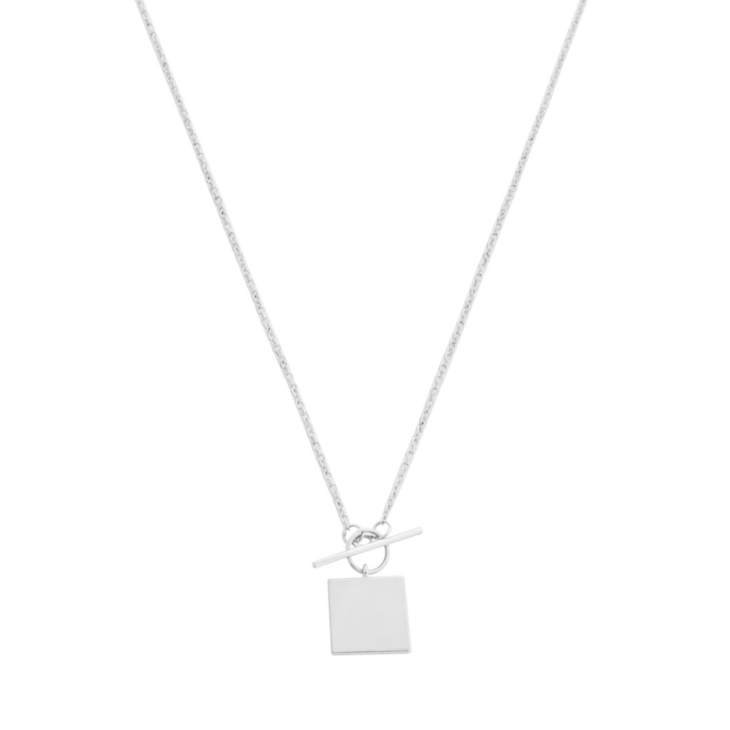Gwyneth Toggle Necklace Necklaces HONEYCAT Jewelry Silver