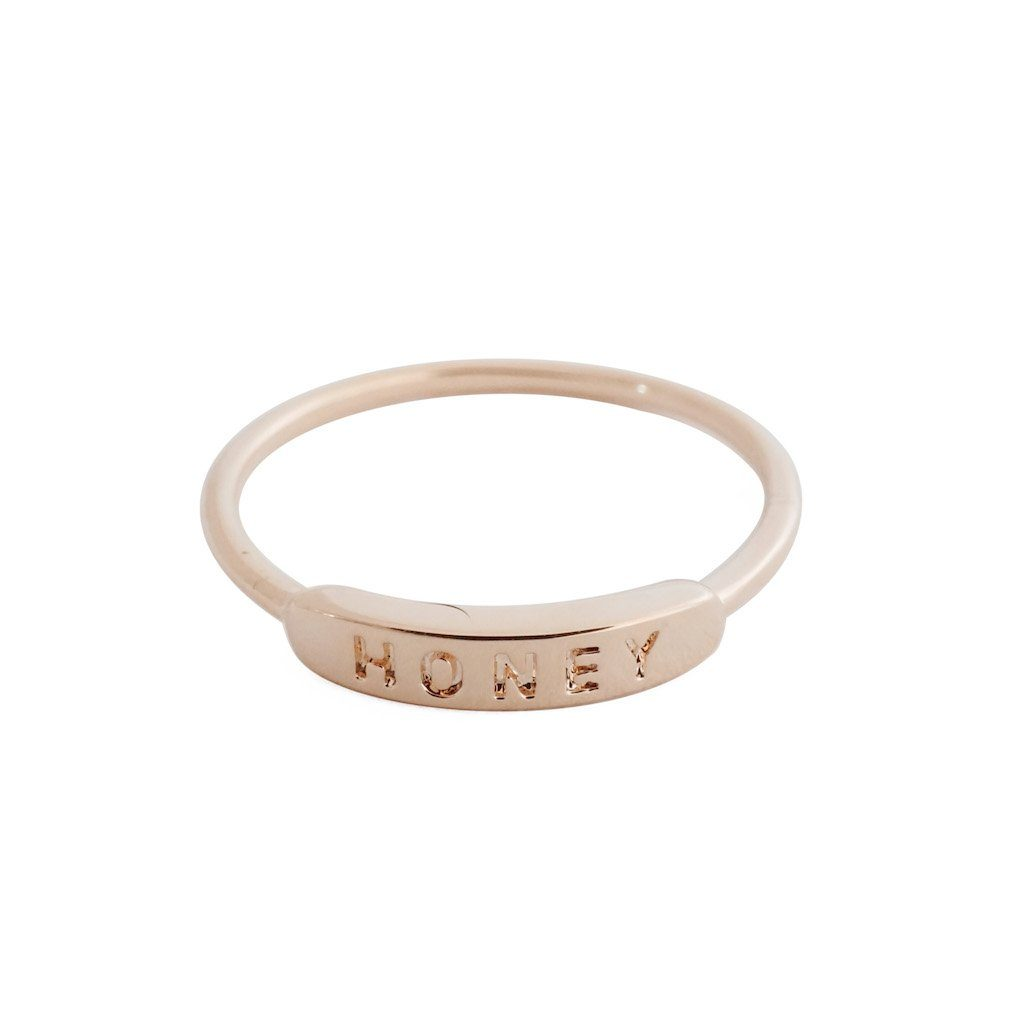 HONEY Imprint Ring Rings HONEYCAT Jewelry Rose Gold 5