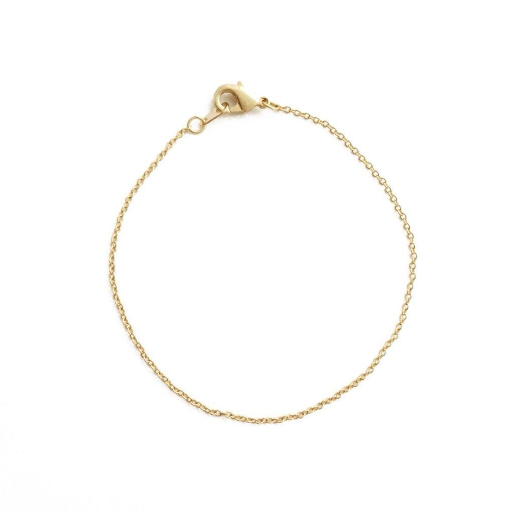 Whisper Thin Chain Bracelet Bracelets HONEYCAT Jewelry Gold 6.5""