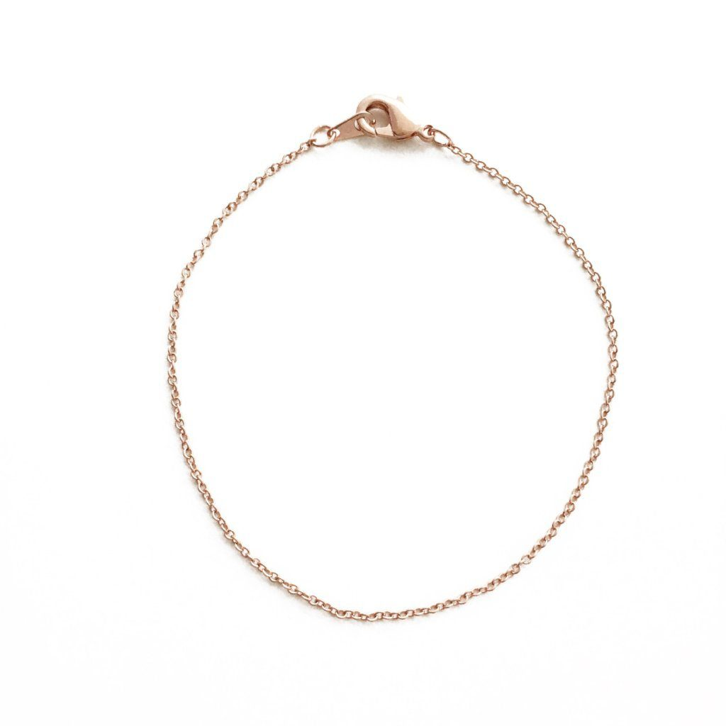 Whisper Thin Chain Bracelet Bracelets HONEYCAT Jewelry Rose Gold 6.5""