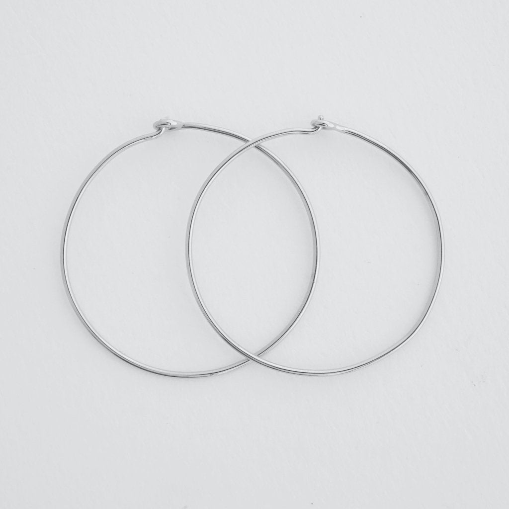 Large Everyday Hoops Earrings HONEYCAT Jewelry