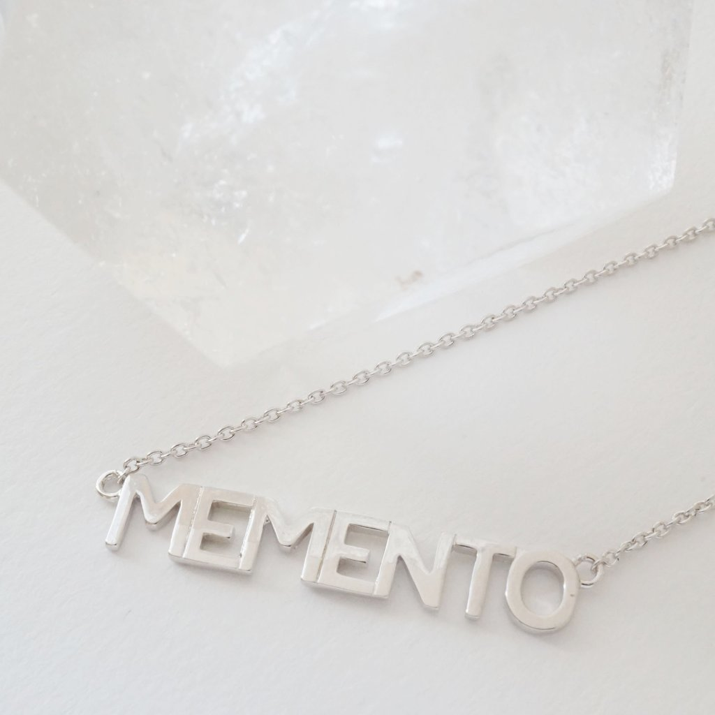 Memento Nameplate Necklace