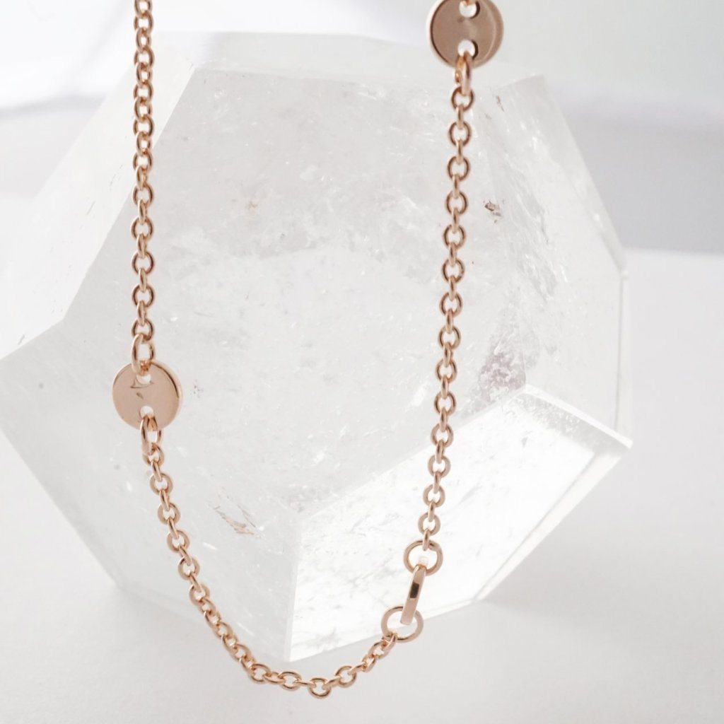Milky Way Disc Chain Bracelet Bracelets HONEYCAT Jewelry