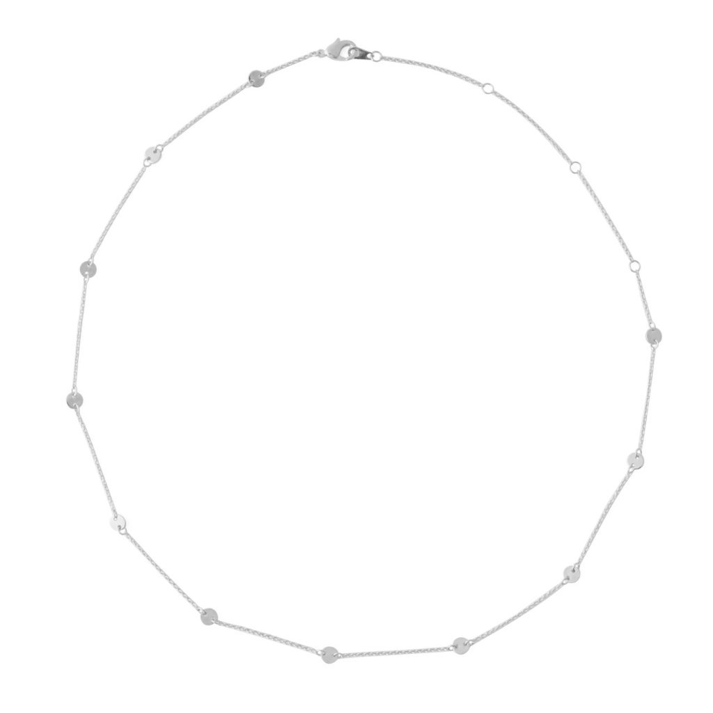 Milky Way Disc Chain Necklace