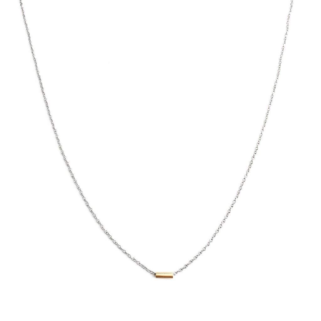 Tiny Dash Pipe Bar Necklace Necklaces HONEYCAT Jewelry Gold/Silver
