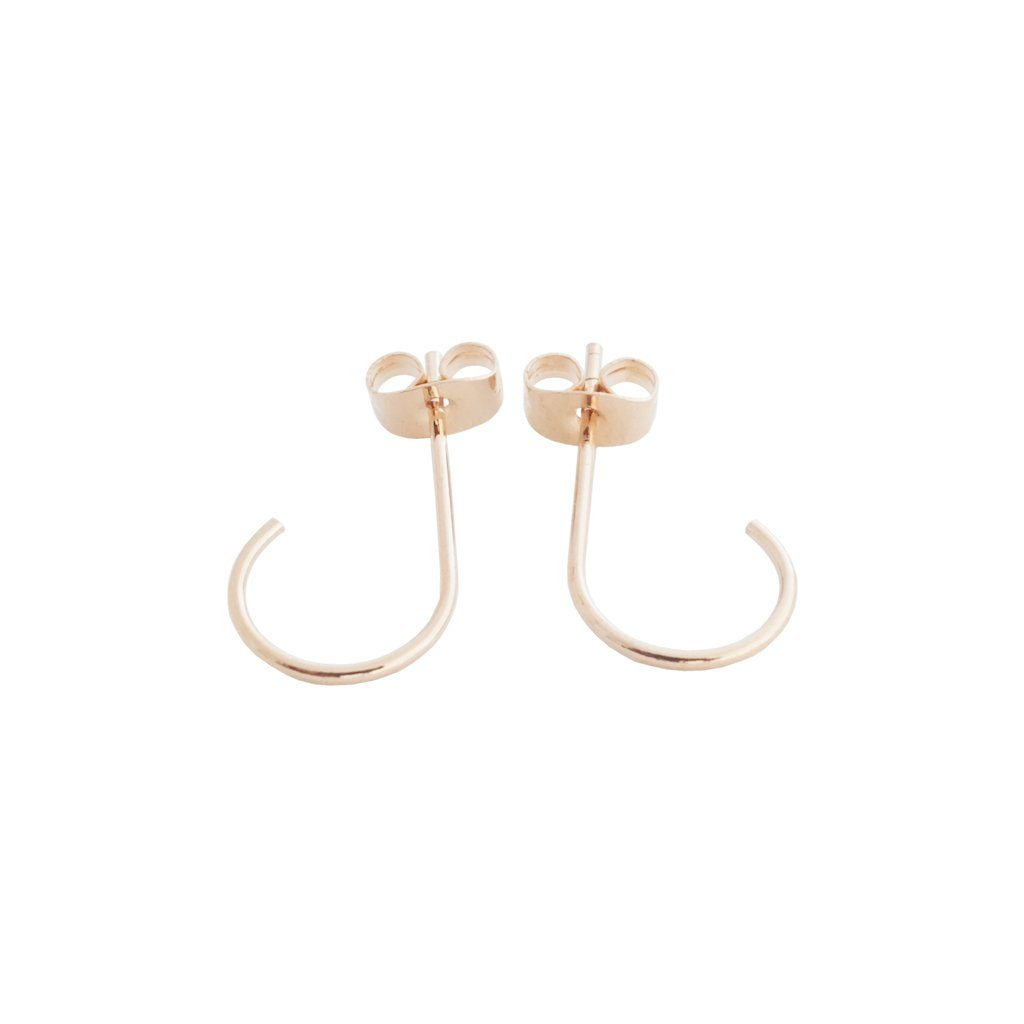 Mini Everyday Hoops Earrings HONEYCAT Jewelry Rose Gold