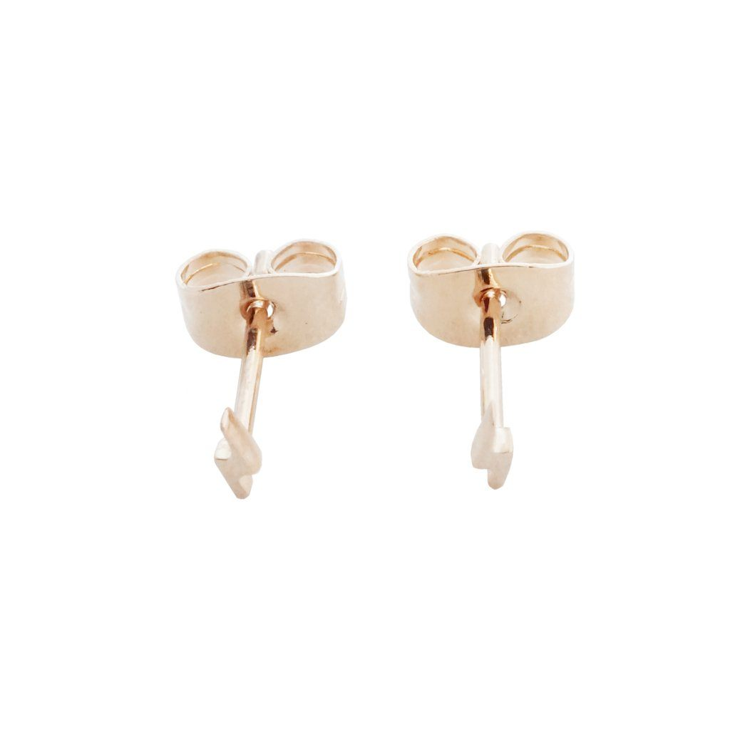 Mini Lightning Stud Earrings Earrings HONEYCAT Jewelry Rose Gold