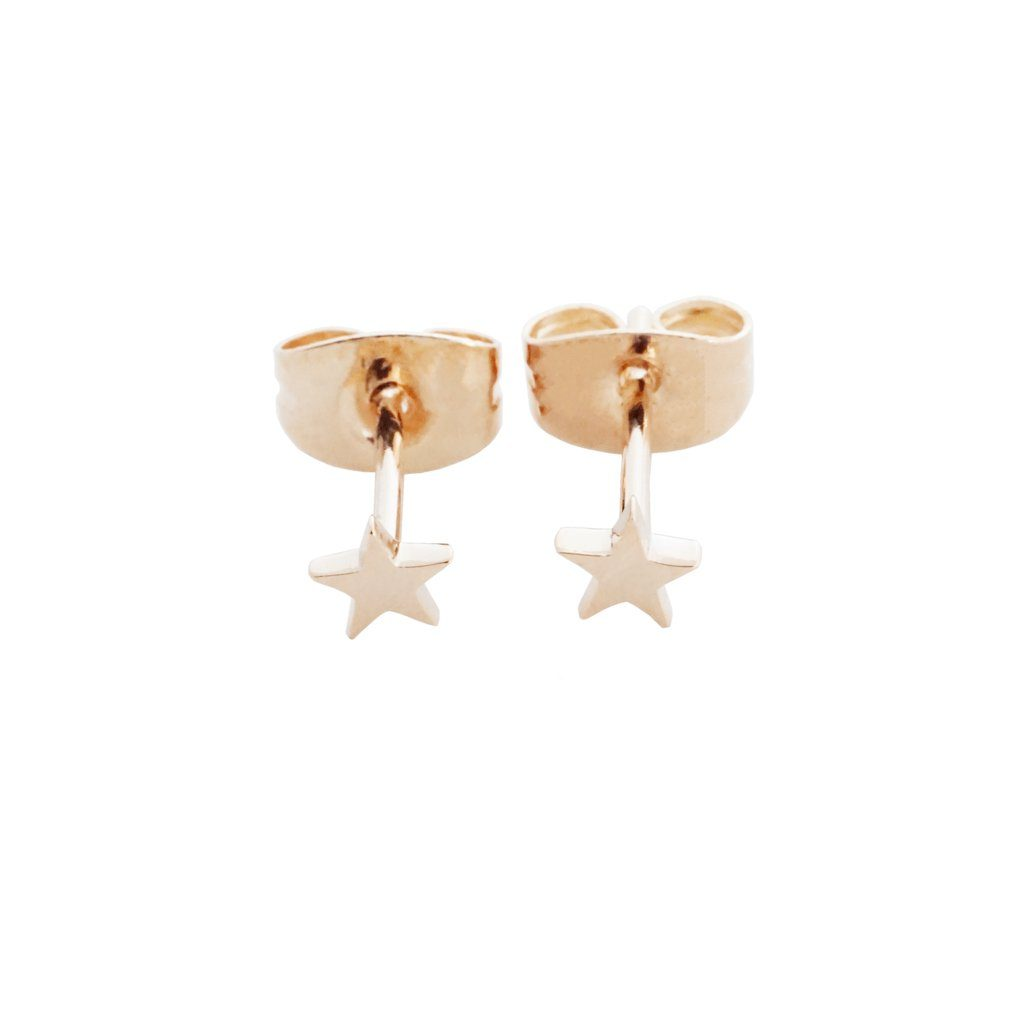 Mini Star Stud Earrings Earrings HONEYCAT Jewelry Rose Gold