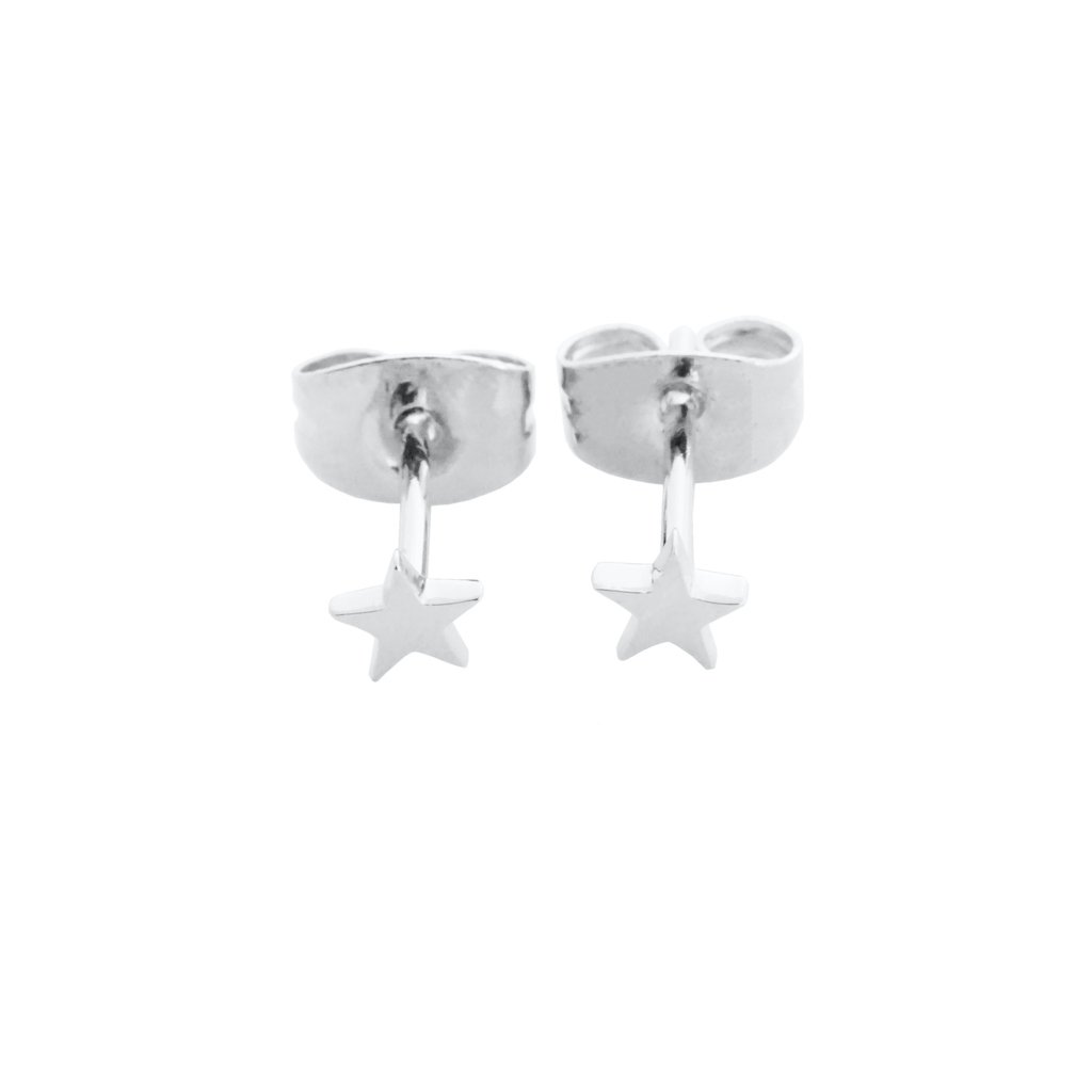 Mini Star Stud Earrings Earrings HONEYCAT Jewelry Silver
