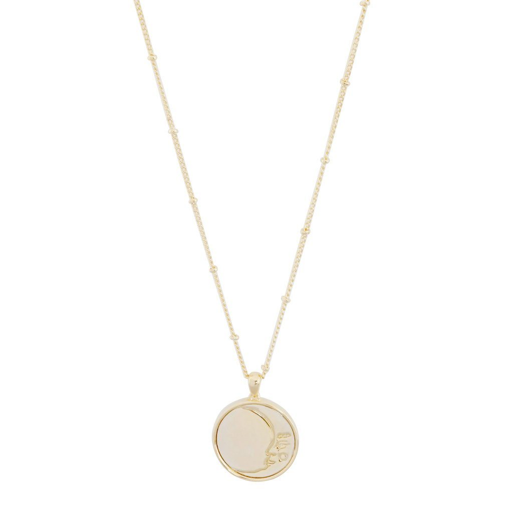 Moon Face Pendant Necklace Necklaces HONEYCAT Jewelry Gold