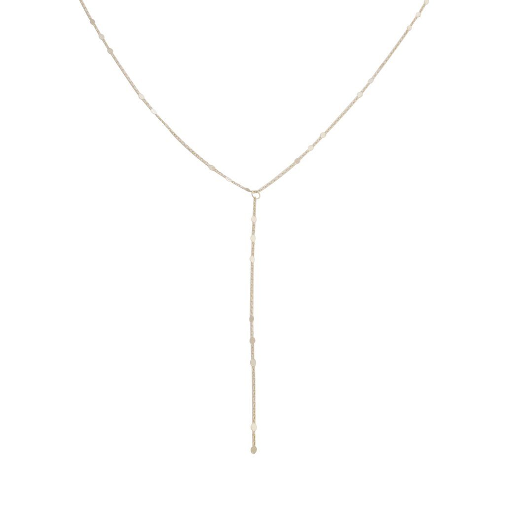 Morse Code Lariat Necklaces HONEYCAT Jewelry Gold