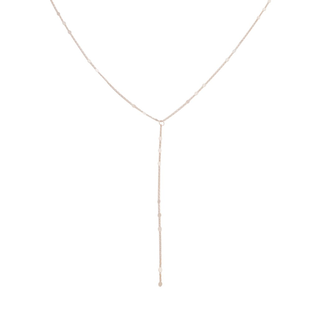 Morse Code Lariat Necklaces HONEYCAT Jewelry Rose Gold