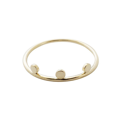Morse Code Ring Rings HONEYCAT Jewelry Gold 5