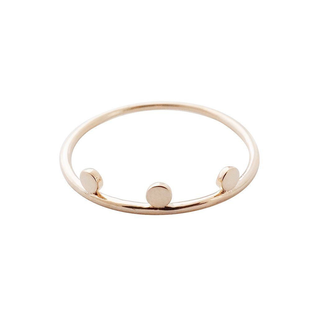 Morse Code Ring Rings HONEYCAT Jewelry Rose Gold 5