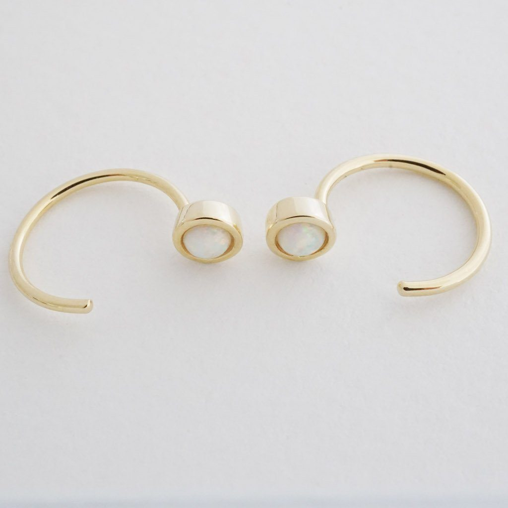 Opal Thread Hoops