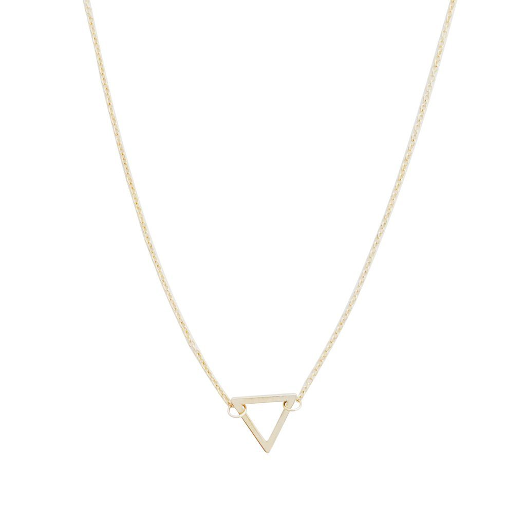 Outline Triangle Necklace Necklaces HONEYCAT Jewelry Gold