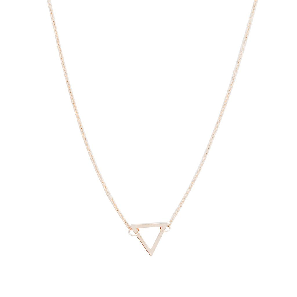 Outline Triangle Necklace Necklaces HONEYCAT Jewelry Rose Gold