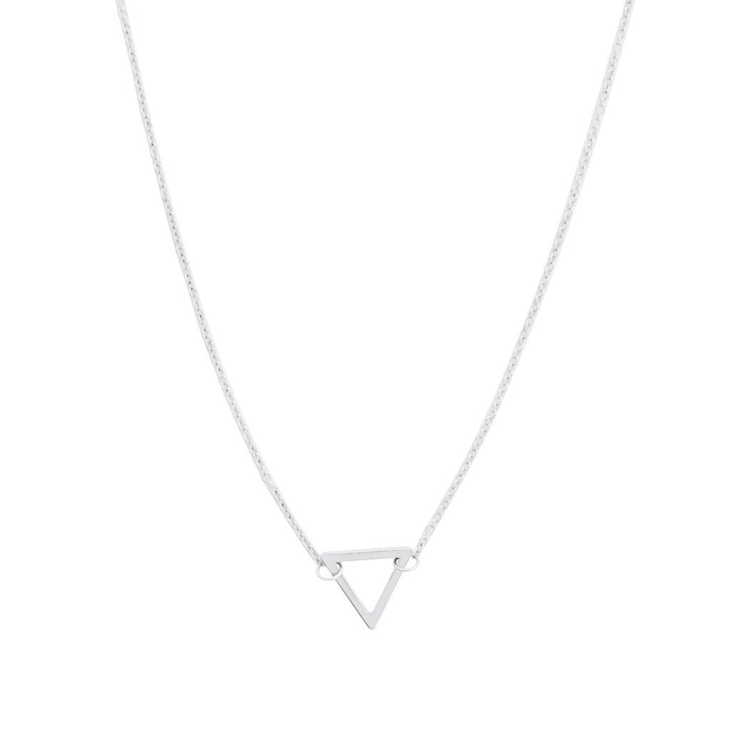 Outline Triangle Necklace Necklaces HONEYCAT Jewelry Silver