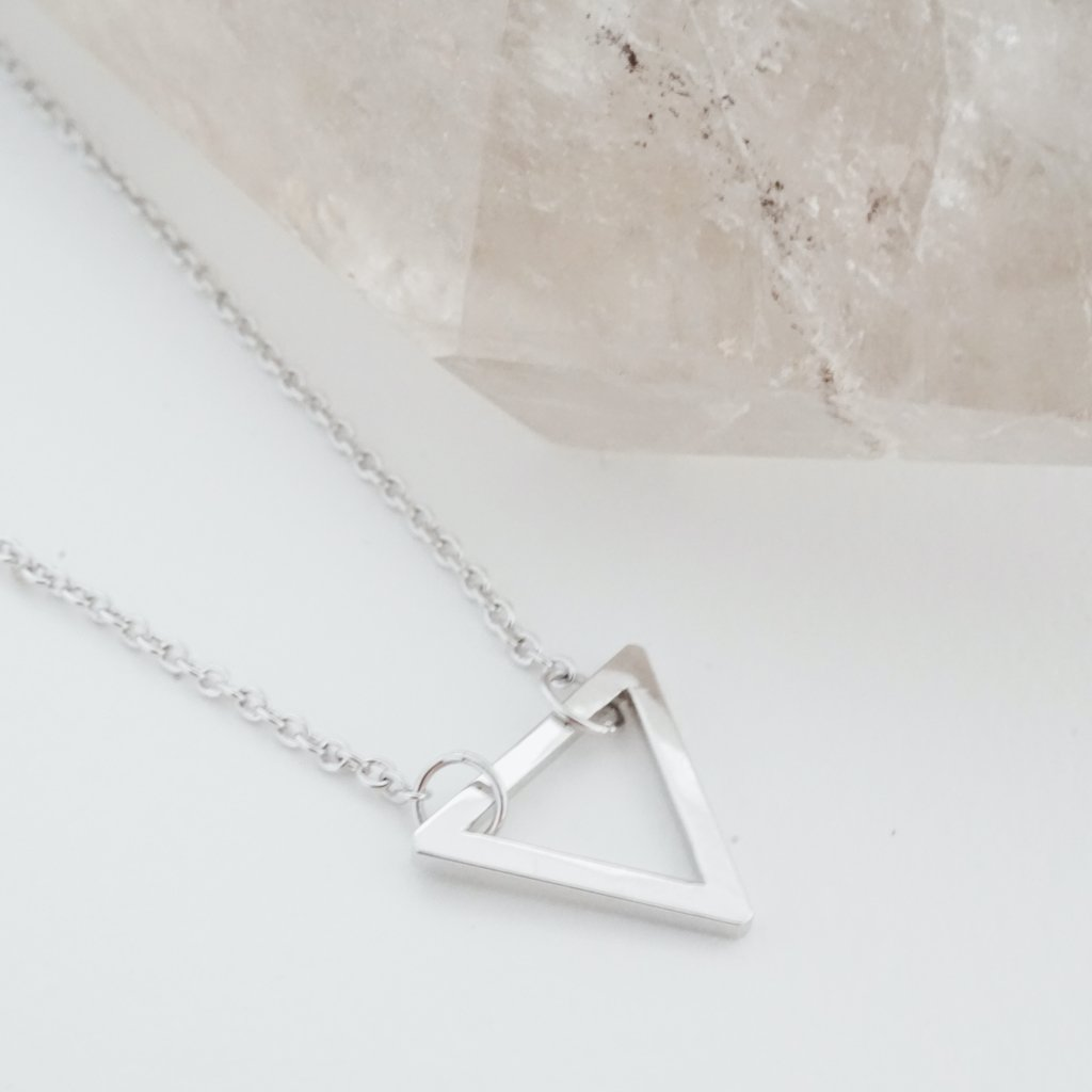 Outline Triangle Necklace Necklaces HONEYCAT Jewelry