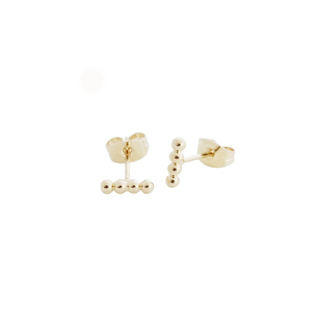 Paige Beaded Studs Earrings HONEYCAT Jewelry Gold