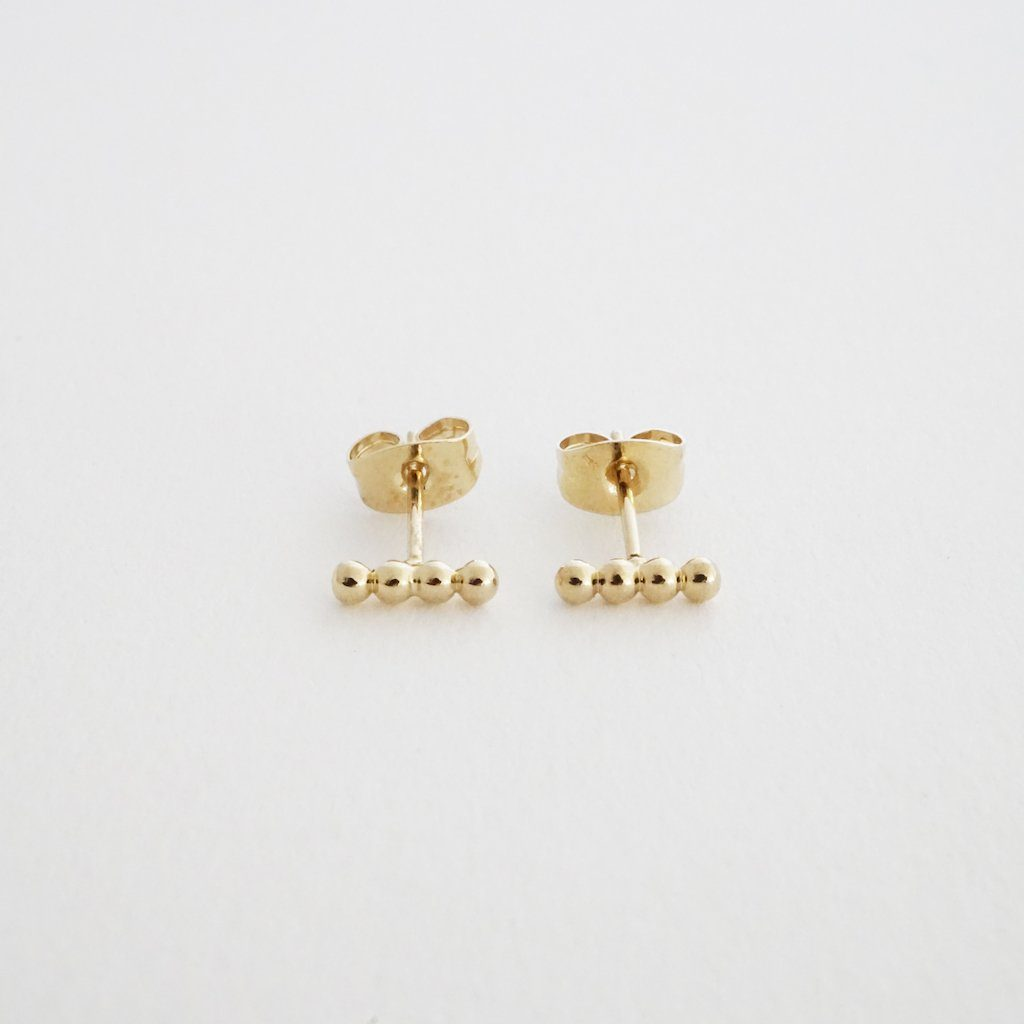 Paige Beaded Studs Earrings HONEYCAT Jewelry