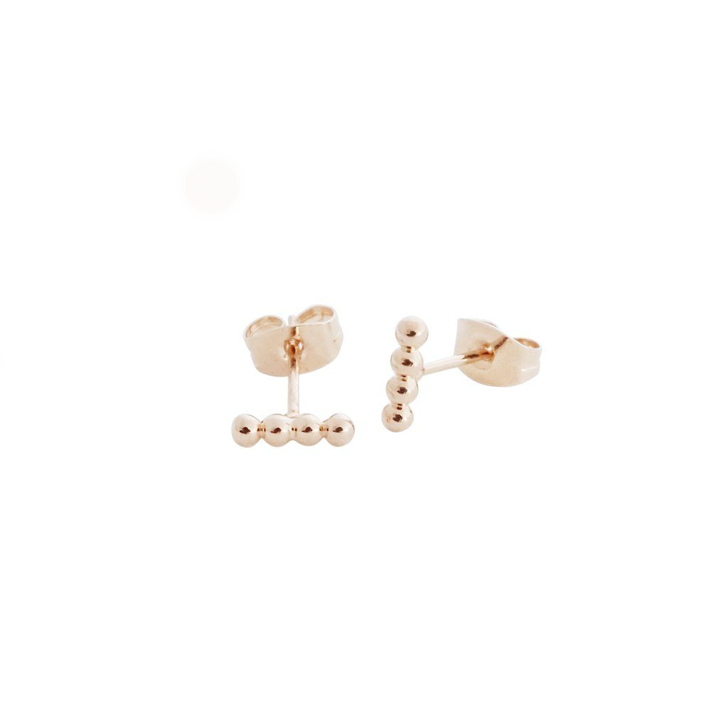 Paige Beaded Studs Earrings HONEYCAT Jewelry Rose Gold