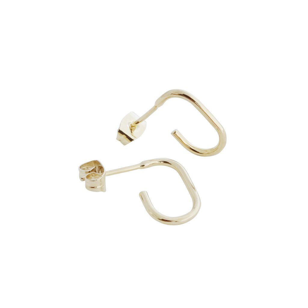 Paulette Oblong Hoops Earrings HONEYCAT Jewelry Gold